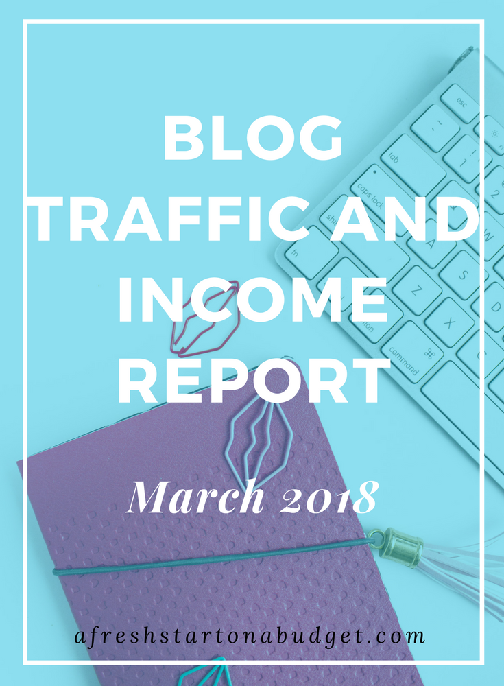 blog income report March 2018