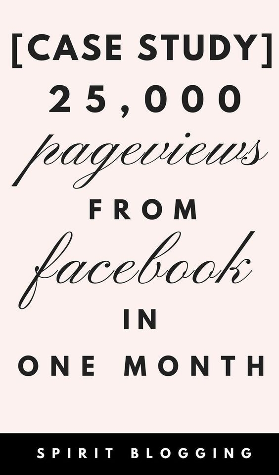 case study 25 000 pageviews from facebook in one month