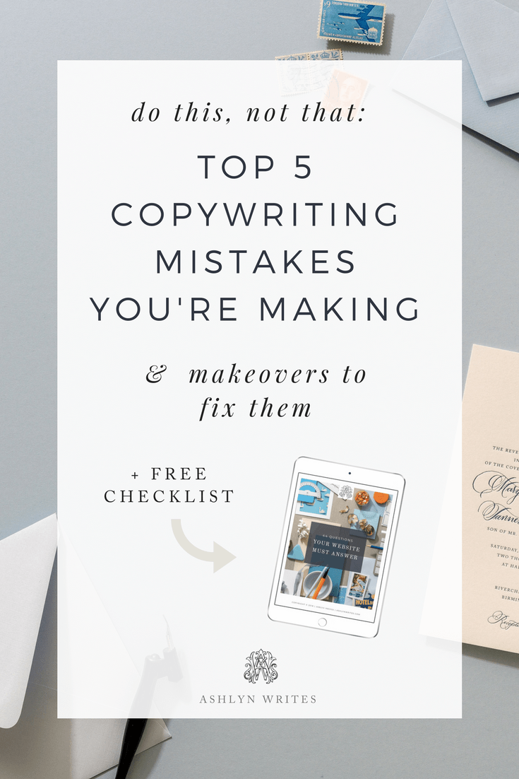 top 5 copywriting mistakes you are making
