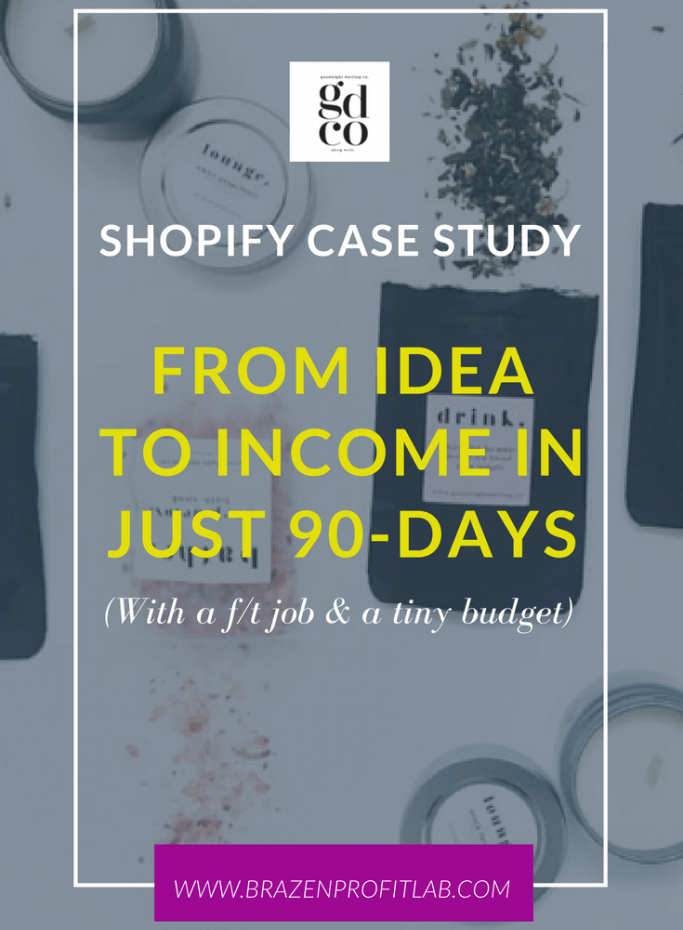 shopify case study from idea to income in 90 days