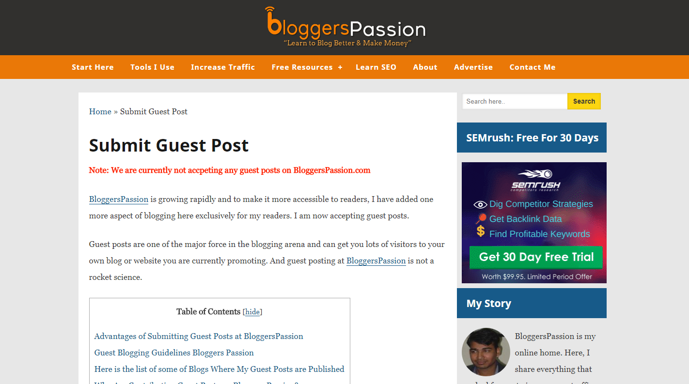 bloggers passion guest blog post