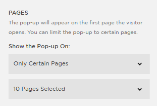 only certain pages