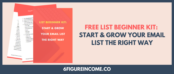 list beginner kit to start & grow your email list the right way