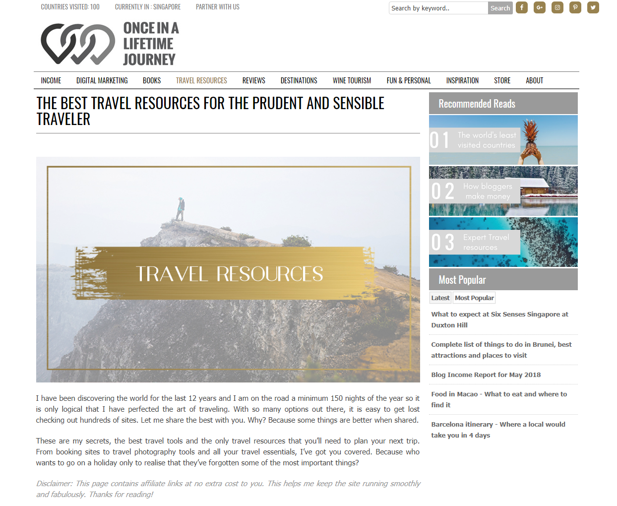 once in a lifetime journey travel resources