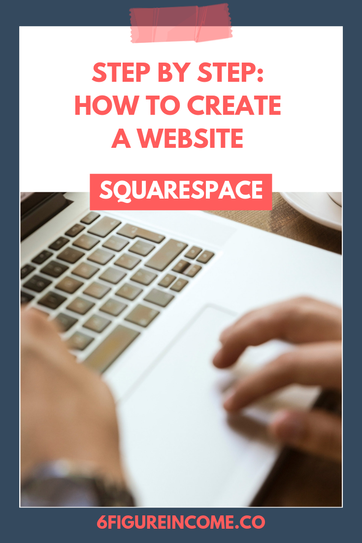 step by step how to create a squarespace website