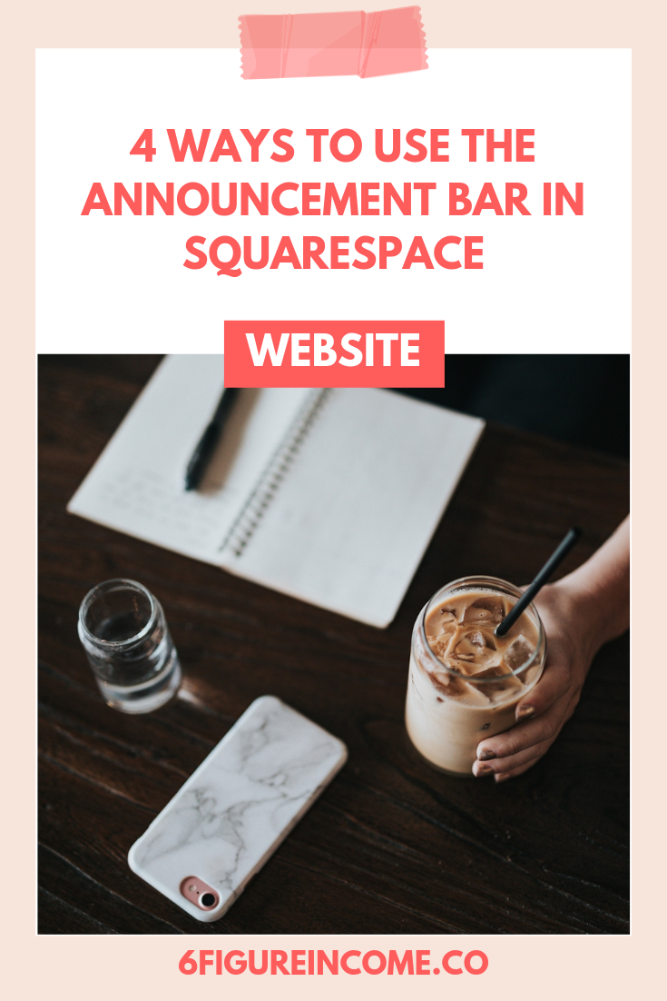 4 Ways to use the announcement bar in Squarespace