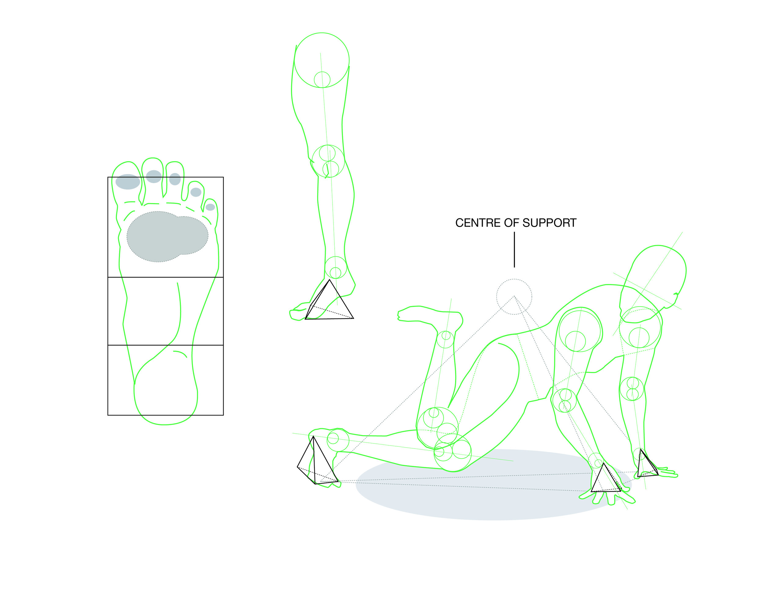 (Tap to see full image) Support system of body position during Footwork.. .