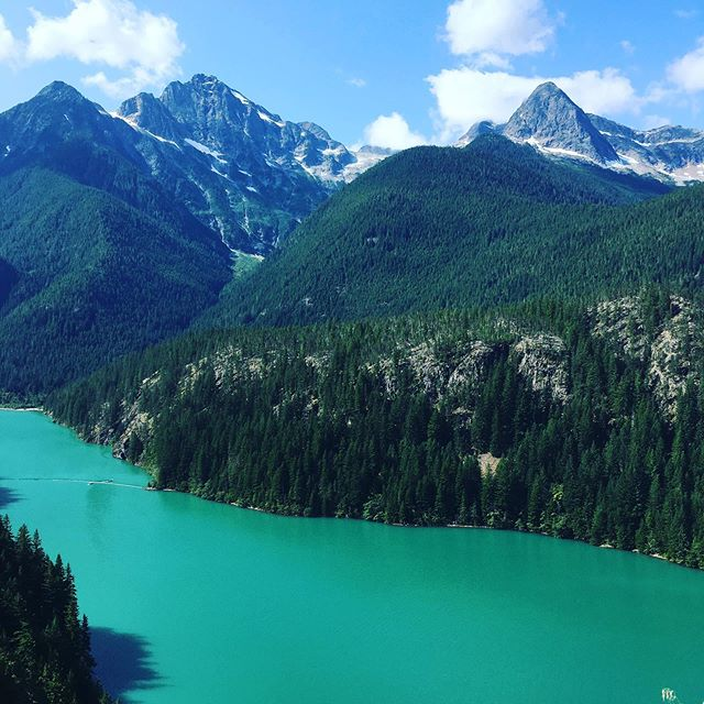 Made a quick visit to Diablo Lake to prep for Banff next week. Get ready for too many mountain photos. 🌲✨🏔