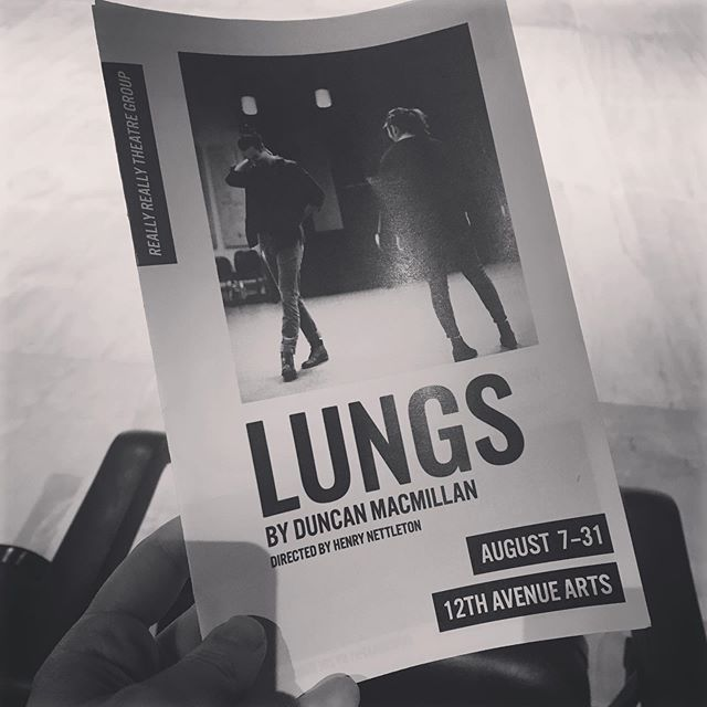 Got to catch Lungs at @reallyreallytheatregroup this past weekend. Go see this show while you can. You've got a brilliant cast (*cough* @erikavfontana) and a beautiful script, which made me laugh cry through tears. . . . . #seattletheatre #lungs #uwdrama #theatre #acting #seattle #pacnorwest