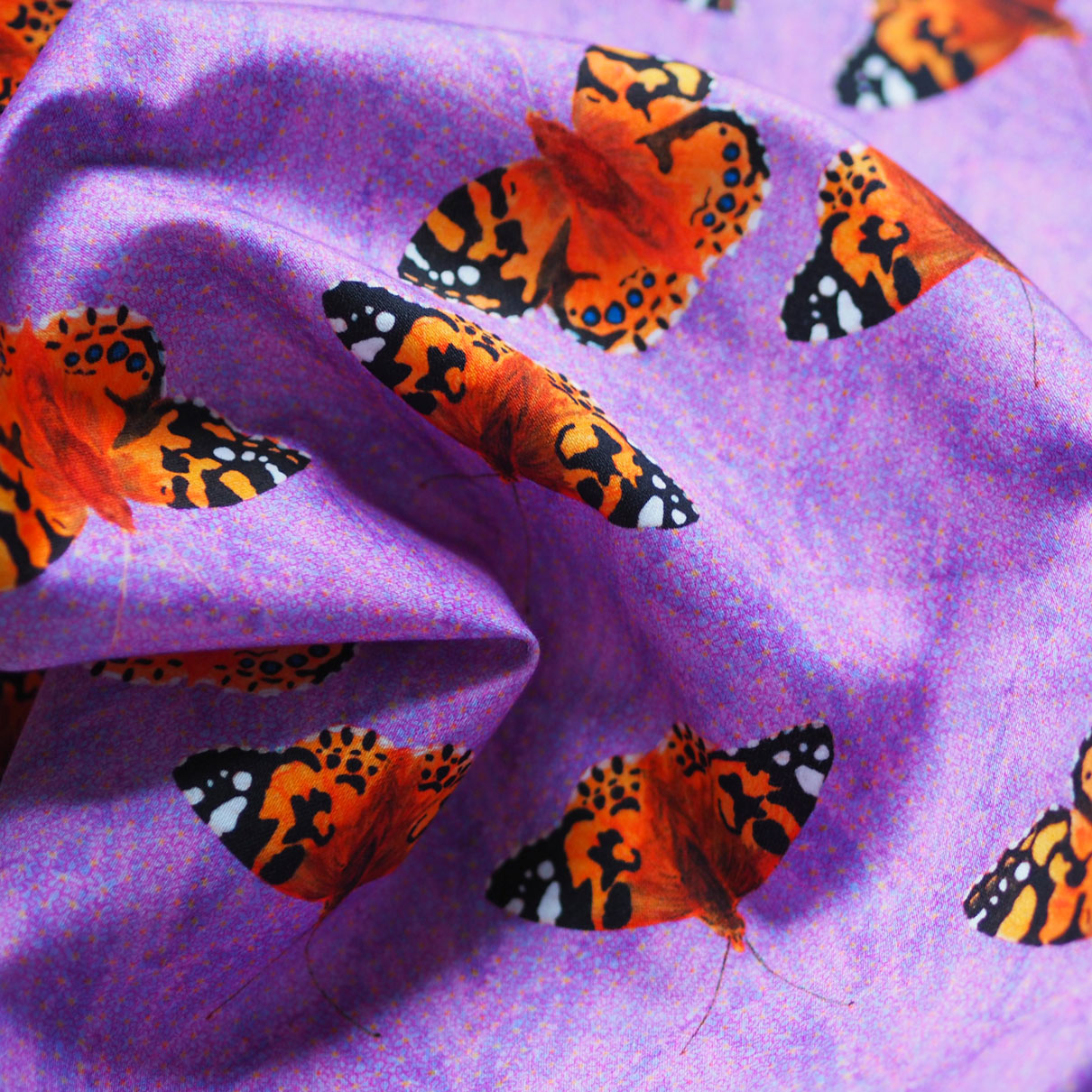 Painted Lady Repeat - Printed to order on Satin Cotton -  Shop Now