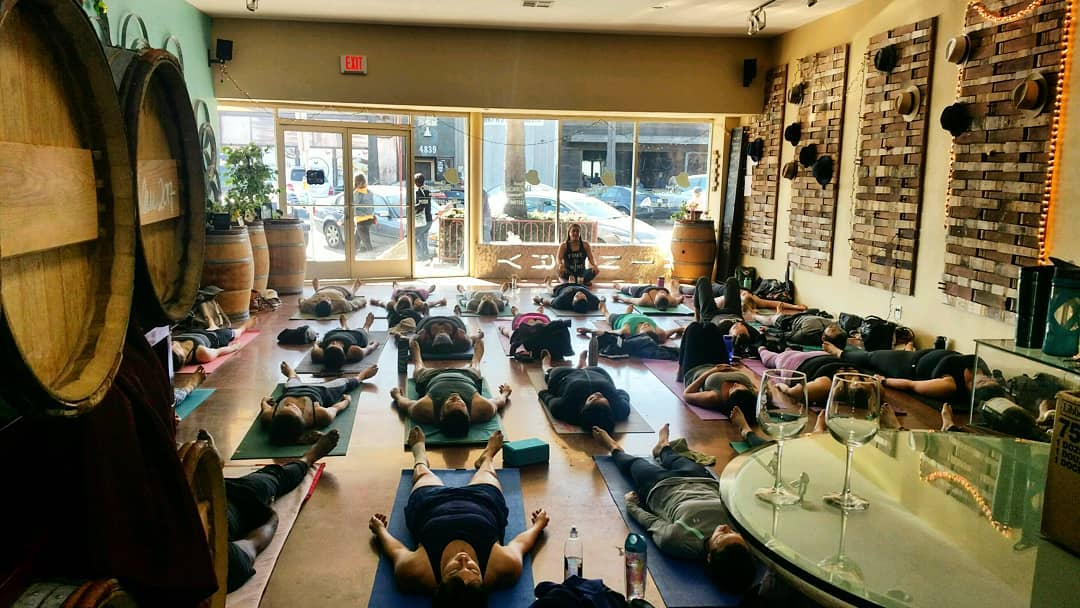 Vine-Yasa: Yoga Class, Pour a glass - June 2nd, 11am. All levels welcome at this vinyasa flow in San Diego's only Beach Winery, Gianni Buonomo Vintners. Tickets $20 include a glass of wine after class. Space limited to 20 people, get your tickets today! http://bit.ly/2IJg5W7