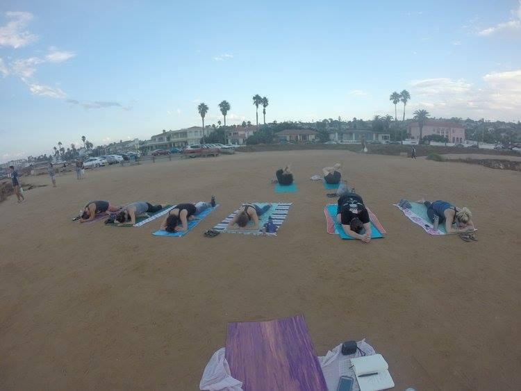 My very first Yoga class :)