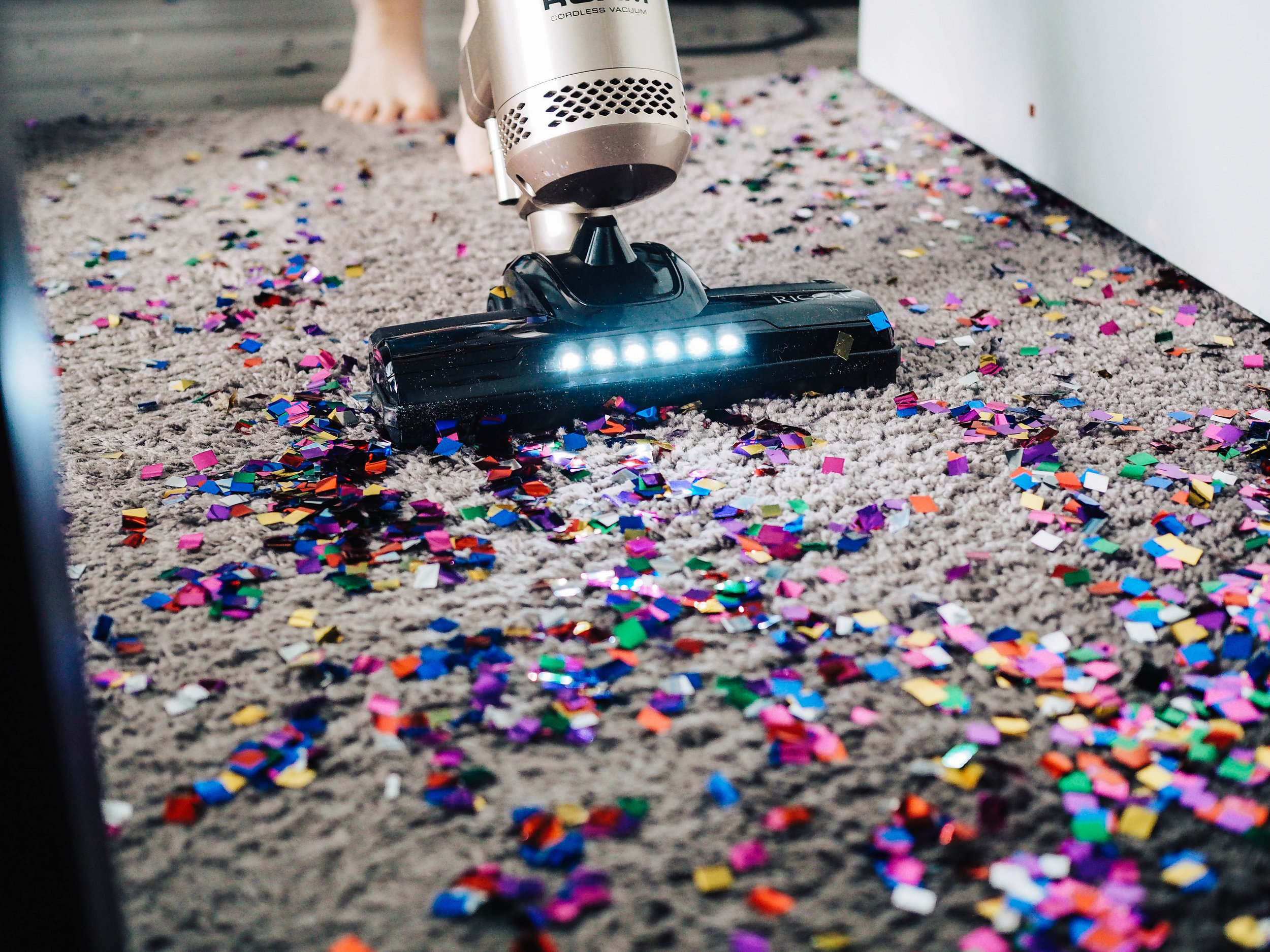 I clean my house - Vacuuming glitter is a regular thing in our house!