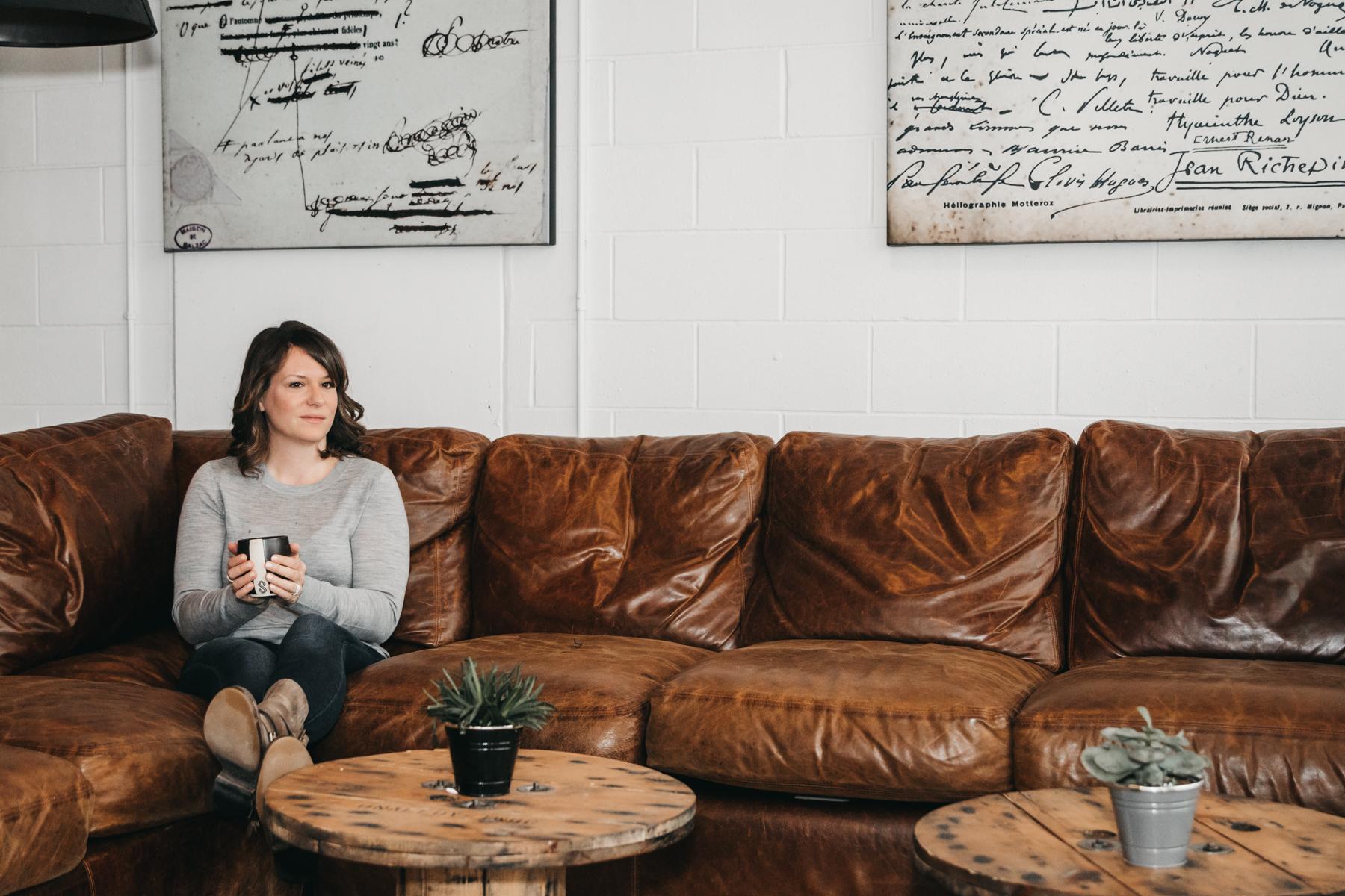 Carlee Krtolica, Full-Time Blogger  Shot on location at Société Coffee Lounge, Calgary AB.