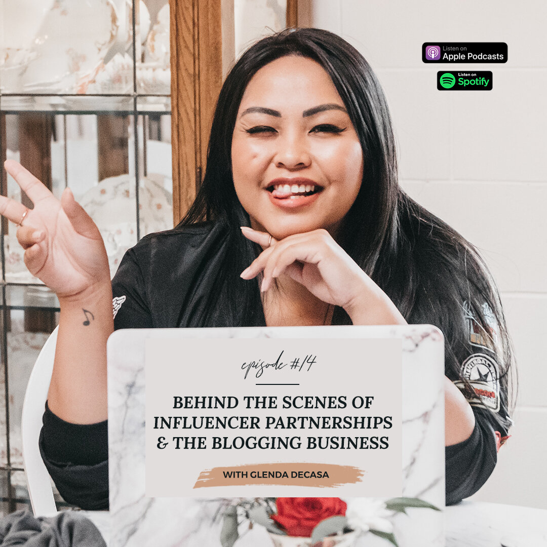 Behind The Scenes of Influencer Partnerships & The Blogging Business with Glenda Decasa | The Get It Girl Radio Podcast Interview with Nicole Constante