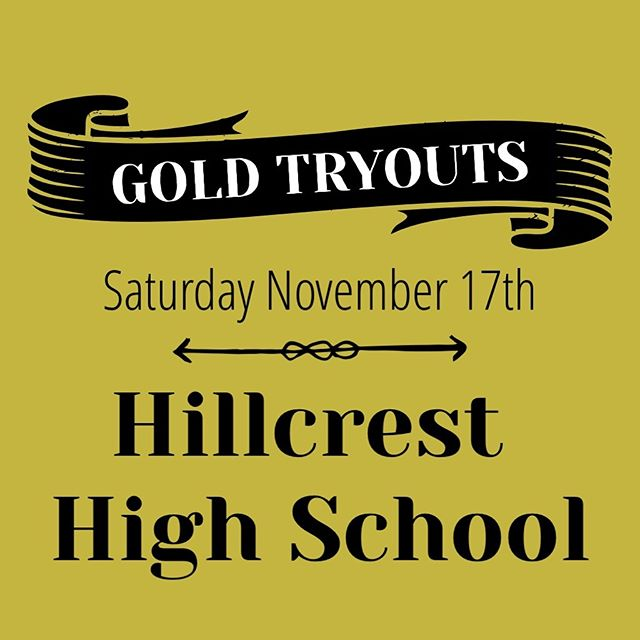 Gold tryouts in Idaho Falls area today! At 2:00! Make sure you are registered and ready to go before tryouts. We look forward to seeing you.