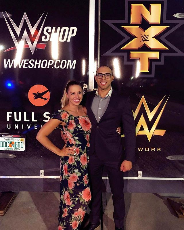 Professional wrestling doesnt owe me anything. But i owe it everything. Because it gave me my dream job and my dream girl. So happy you were ringside to see the first of many matches at Full Sail @hott.schott