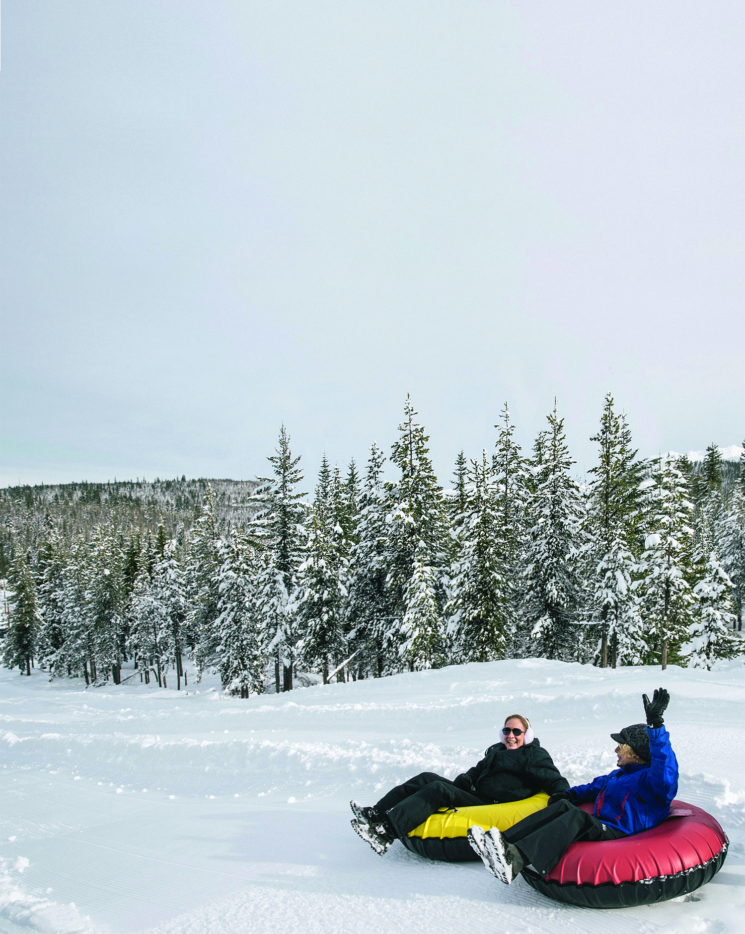 Tubers can catch a ride up the hill on Diamond Lake Resort's 470-foot conveyor.