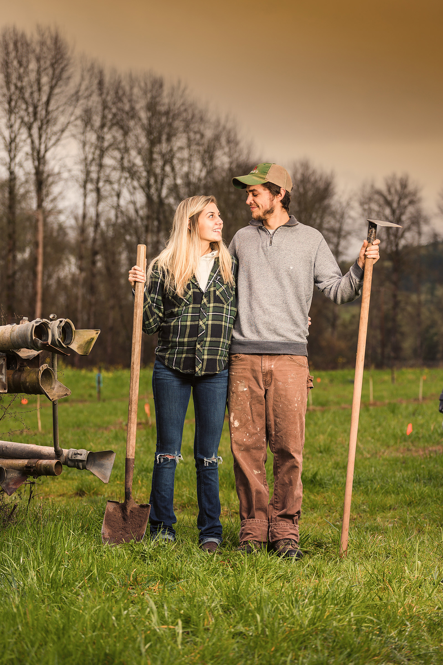 Erika Wolfe and Rylan Guillen are among several young farmers breaking ground in the Umpqua Valley.