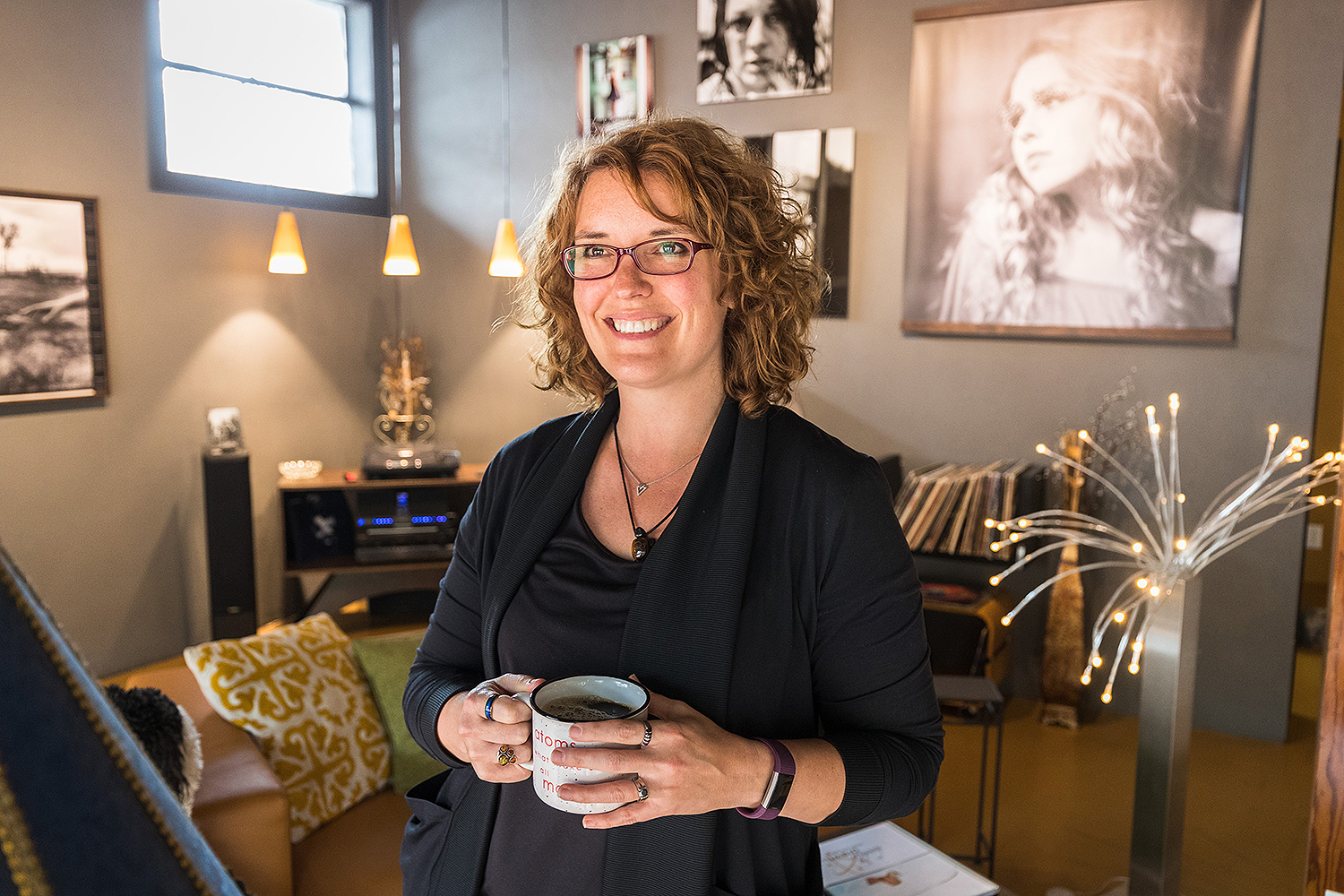 """Photographer Jody Brown says she's not just selling coffee at Atom Espresso and Coffee Bar, she's selling """"a feeling."""""""