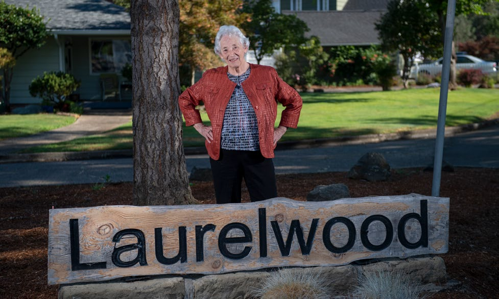 Former, and long-time resident Jacie Pratt is credited with starting many of the enduring traditions for which the Laurelwood neighborhood is famous.