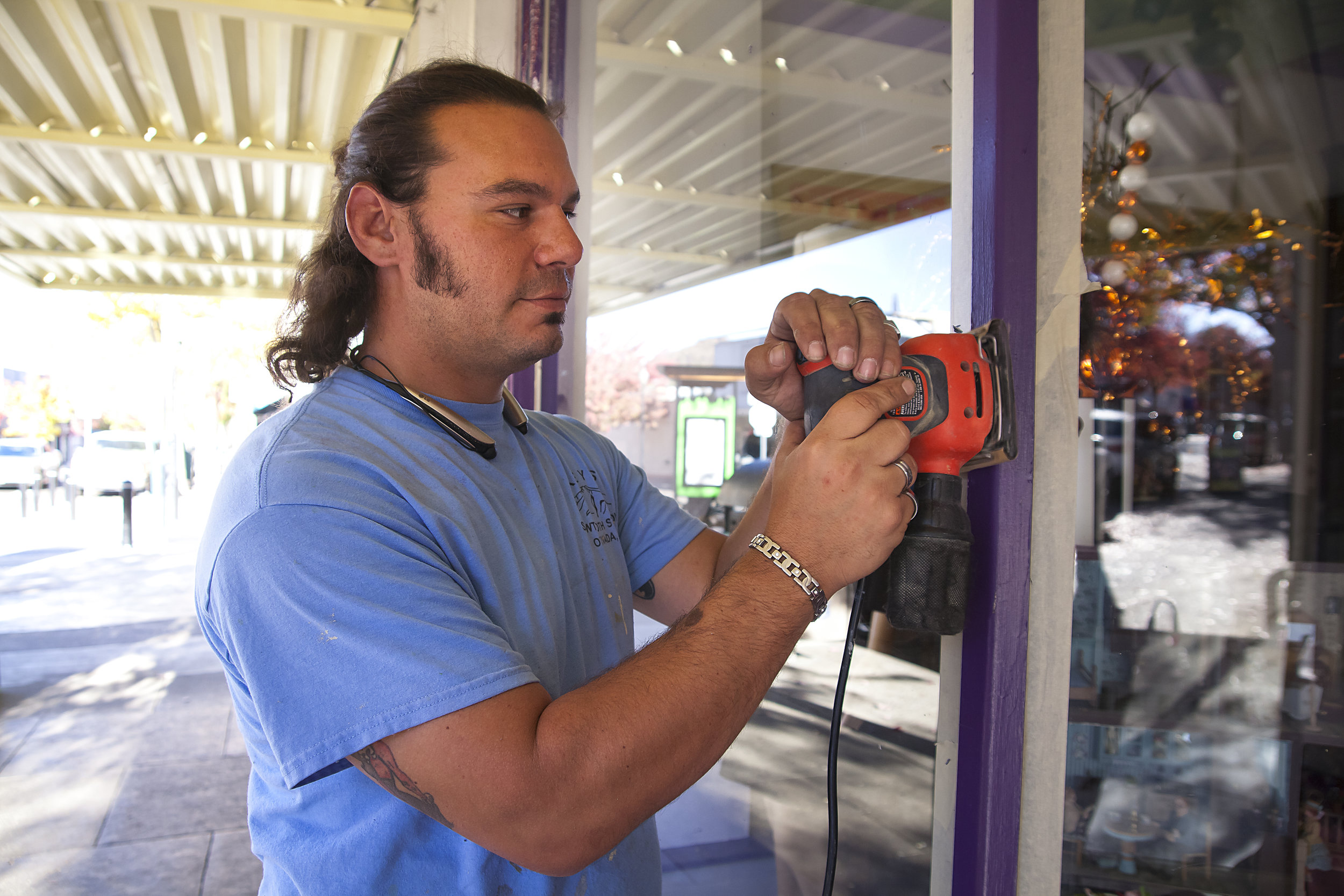 Rob Negrin at work downtown