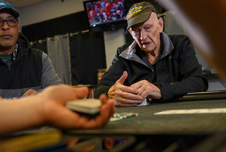 88-year-old Jim Davis is a Club House regular.