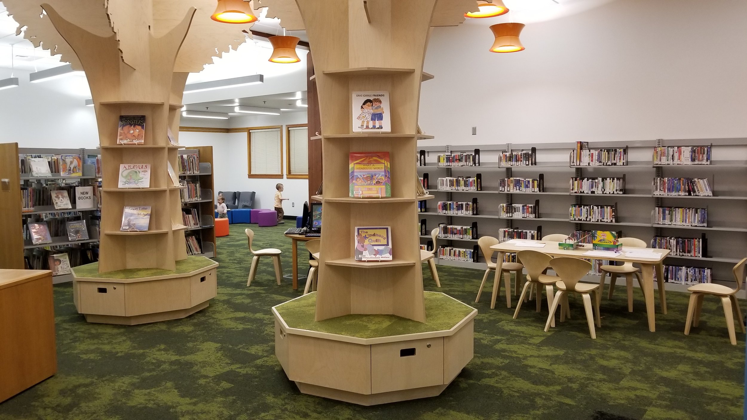 The remodeled library features a spacious new children's room. Photo by Koree Tate.