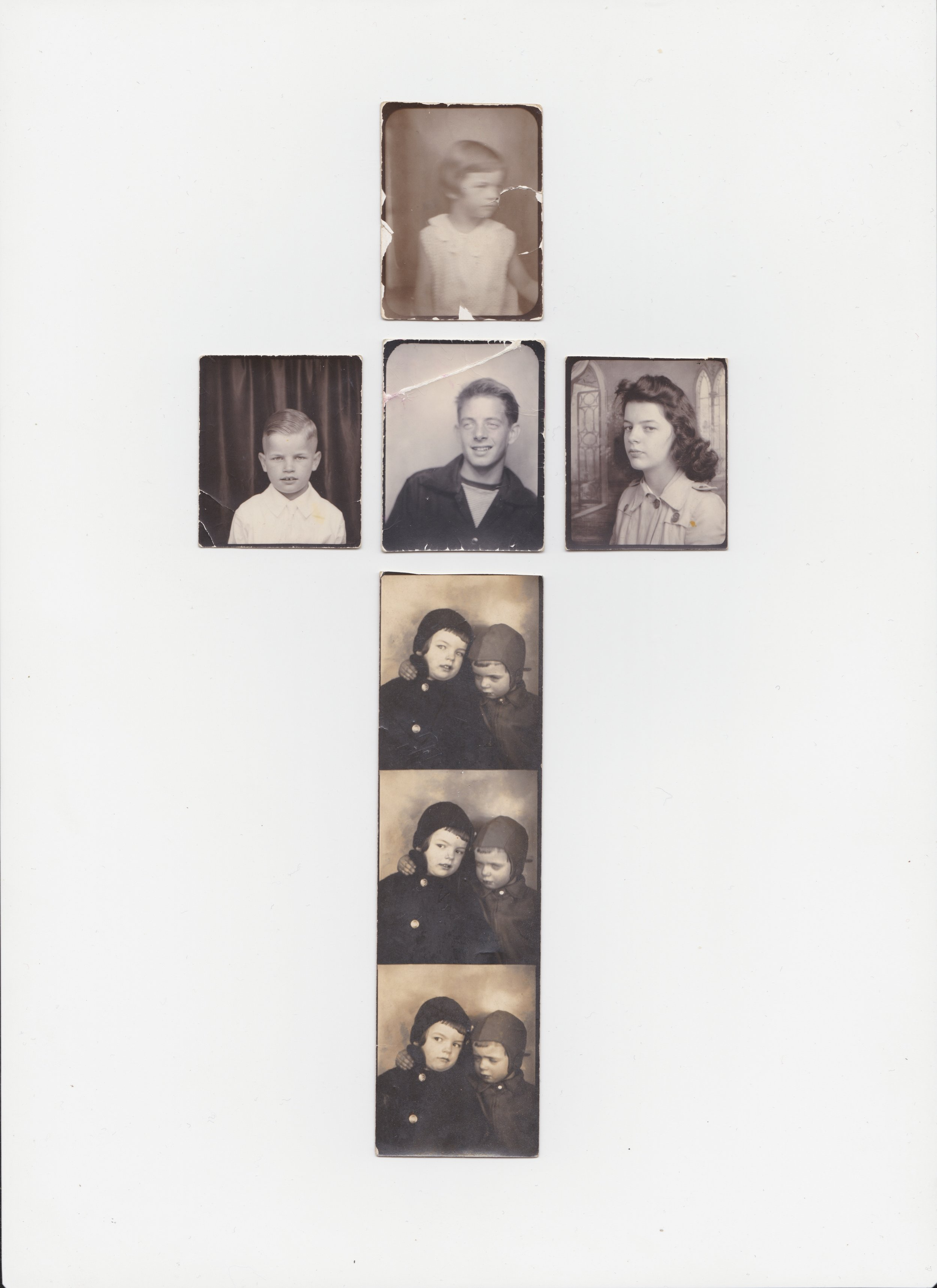 collage of old family photos for a tour flyer