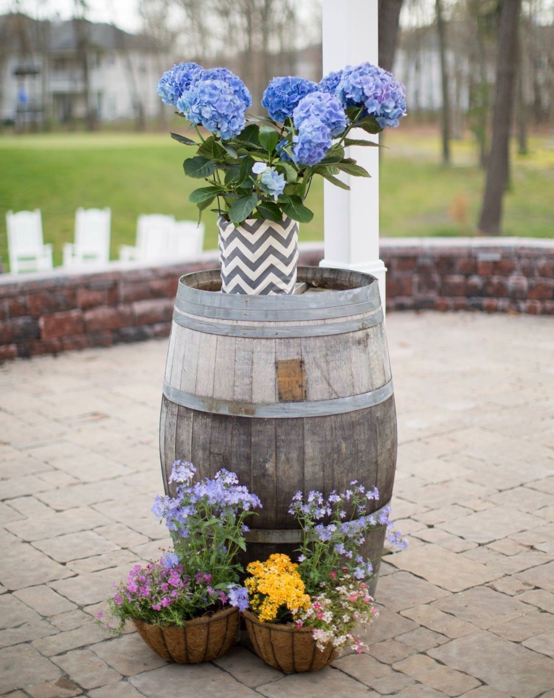 "Wine Barrels - Rental Rate: 45.00Dimensions: 35""H x 23.5"" DiameterQuantity Available: 2"