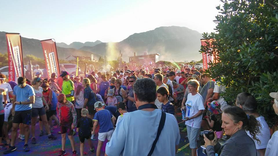 Gathering for our festival fun run
