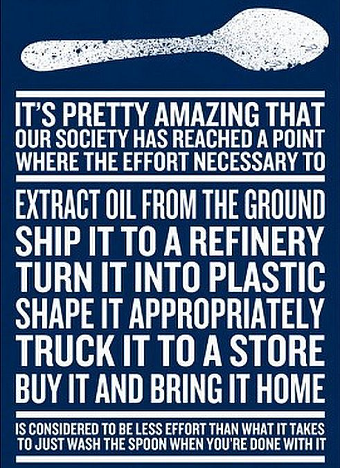 Food for thought on single use plastics