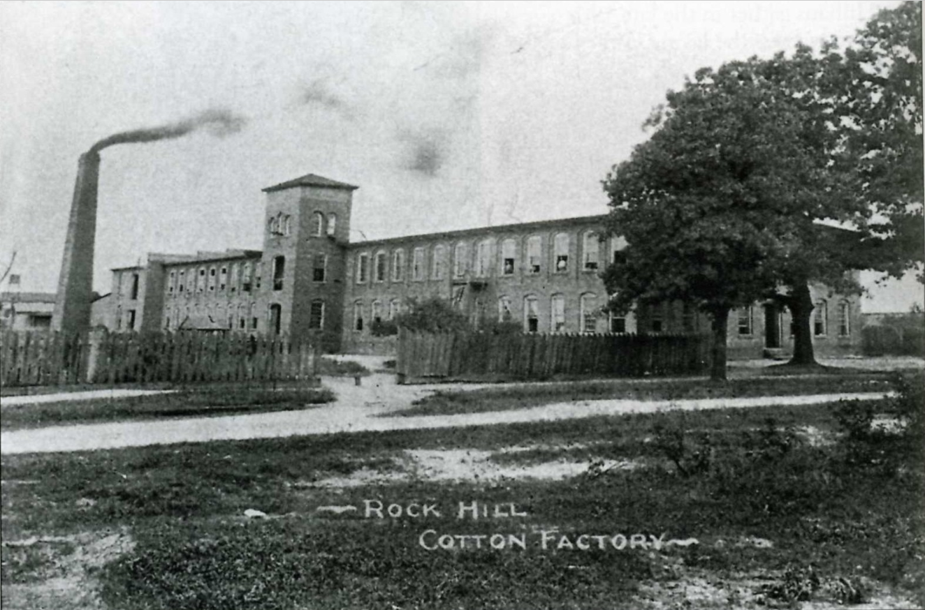 Postcard view of the Cotton Factory shortly after construction.