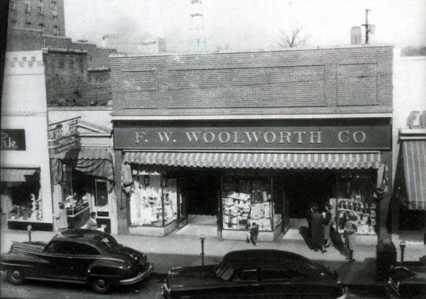 Early image of the Woolworth Building on East Main Street