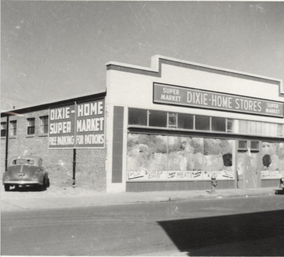 The Dixie-Home Store in the 1950s. Courtesy of the Jack Tucker photo collection at HRH