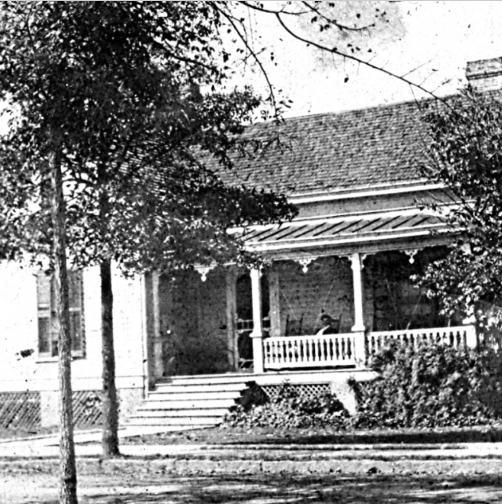 The old Caldwell home that sat at approximately this location