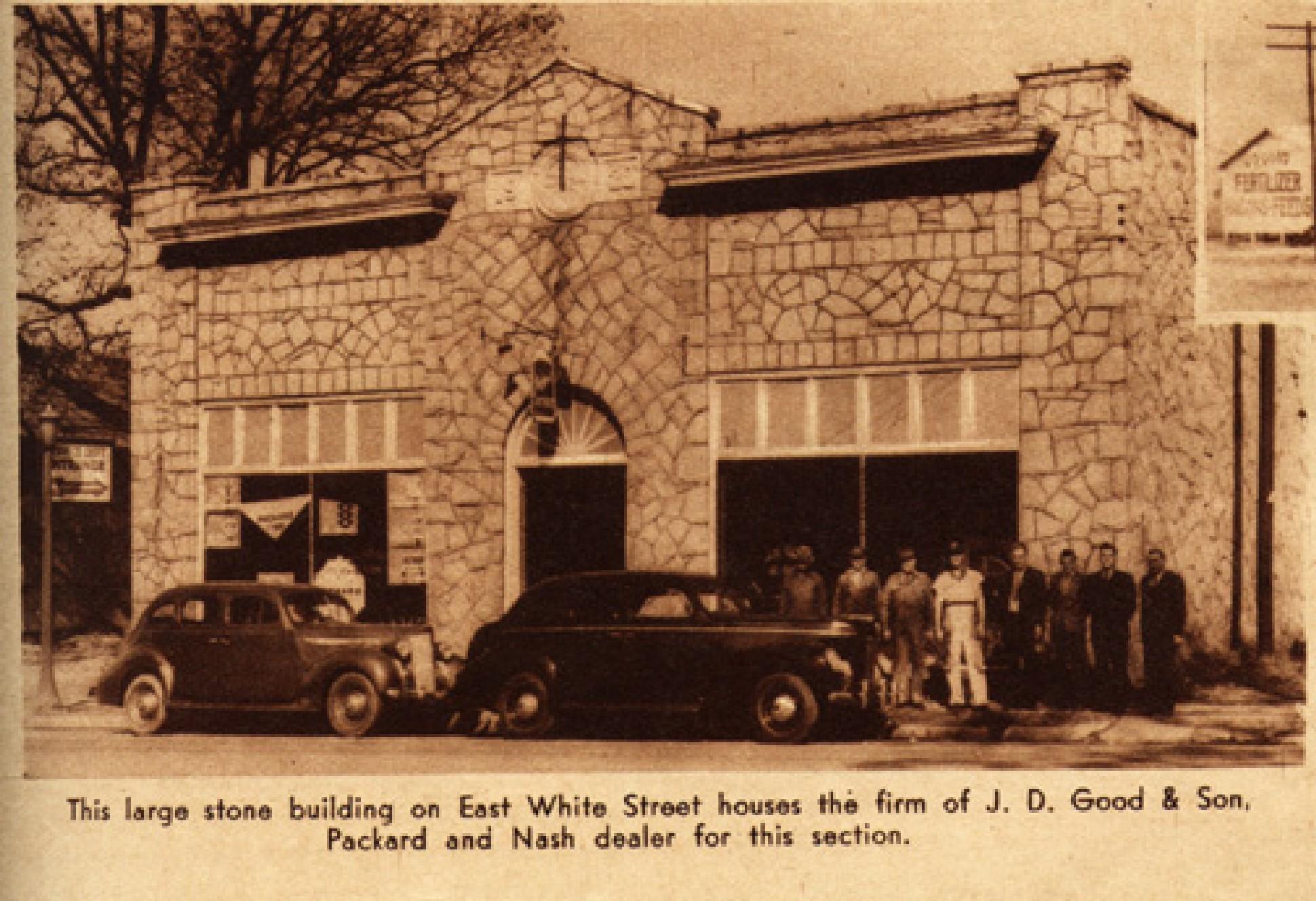 J.D. Good & Sons, Packard and Nash dealership 1939
