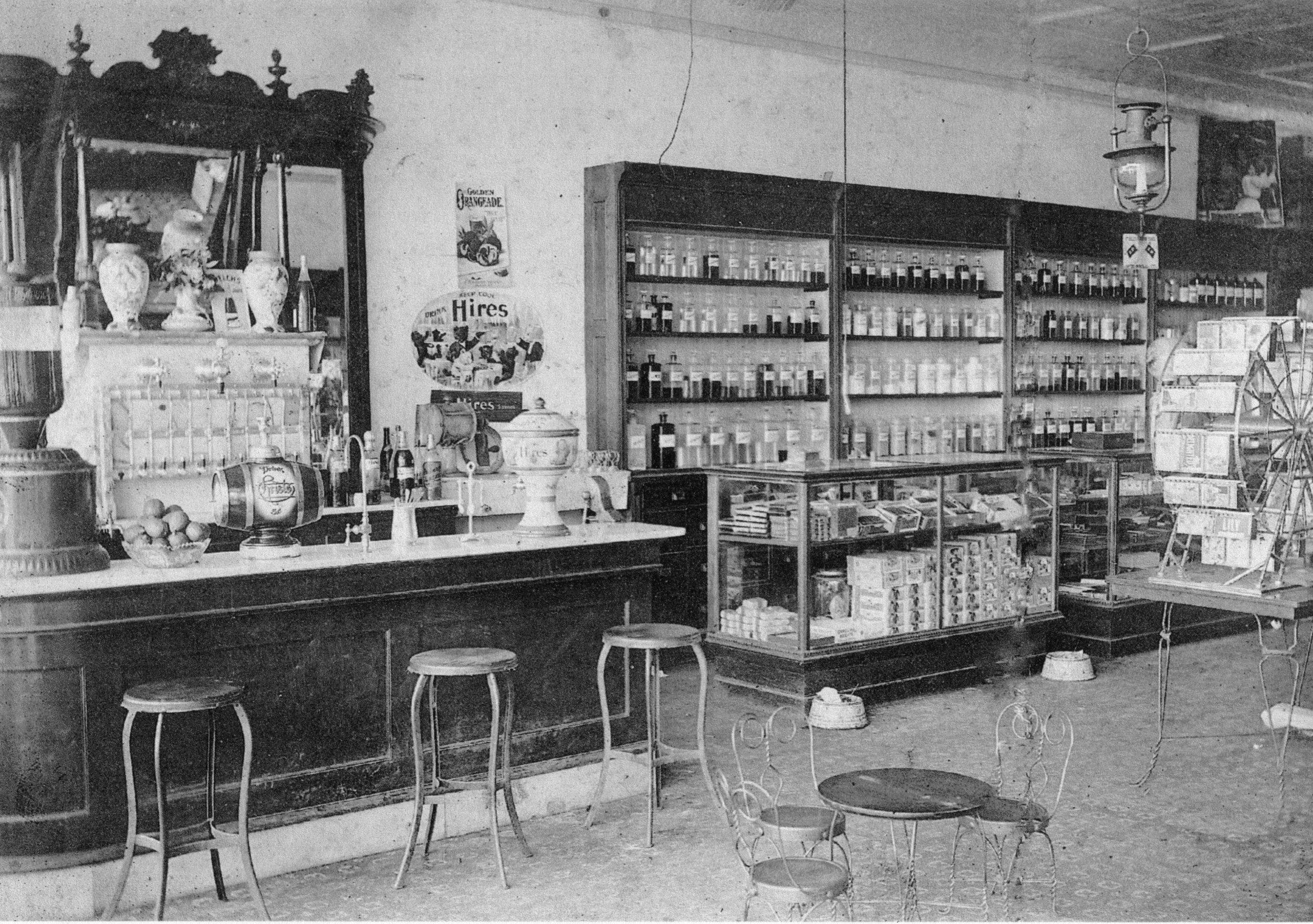 Ardrey's Soda Fountain circa 1920