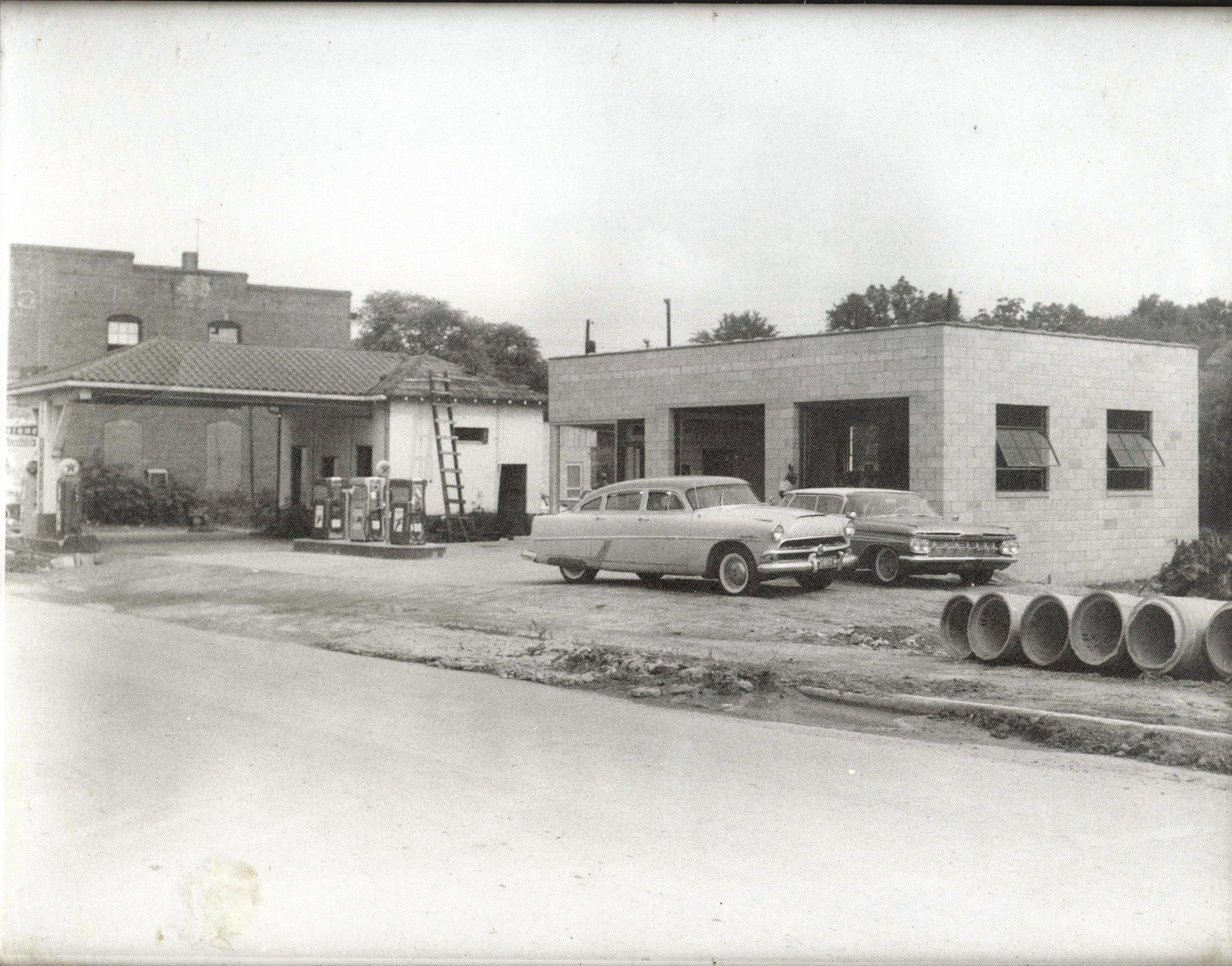 Mills Filling Station was a central location within the African American business area along West Black Street.