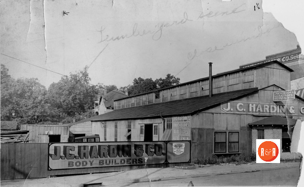 J. C. Hardin and Co., prior to moving to their new location on West Main Street - Rock Hill Body Company