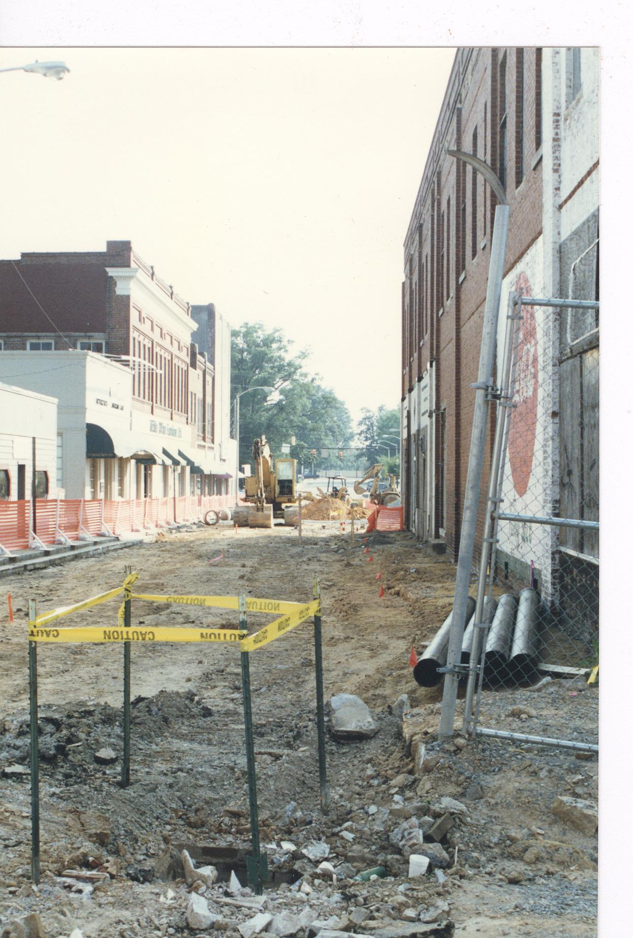 Hampton Street in ca. 1970 during urban renewal.