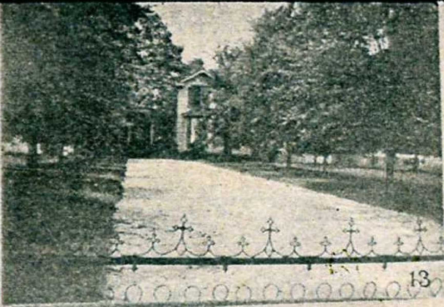 """Current location of Saint John's Methodist Church - The Witherspoon Home originally faced East White Street.The Herald reported on July 3, 1897 - """" The Rock Hill Hardware Company has orders for steel picket fencing, 350 ft. of ornamental fencing for the lawn in front of Mrs. J.C. Witherspoon's home..."""""""