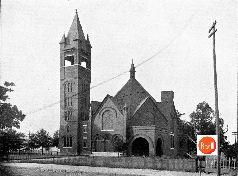 Image of the current church shortly after construction. Note the bell tower was shortened, following a massive tornado, which damaged the tower in 1925.
