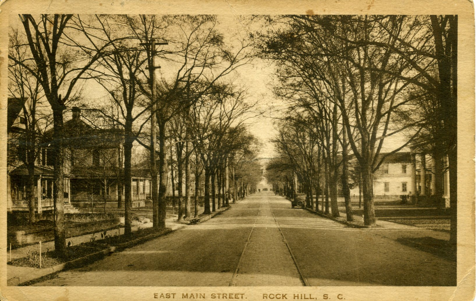 Postcard view of East Main Street in ca. 1910