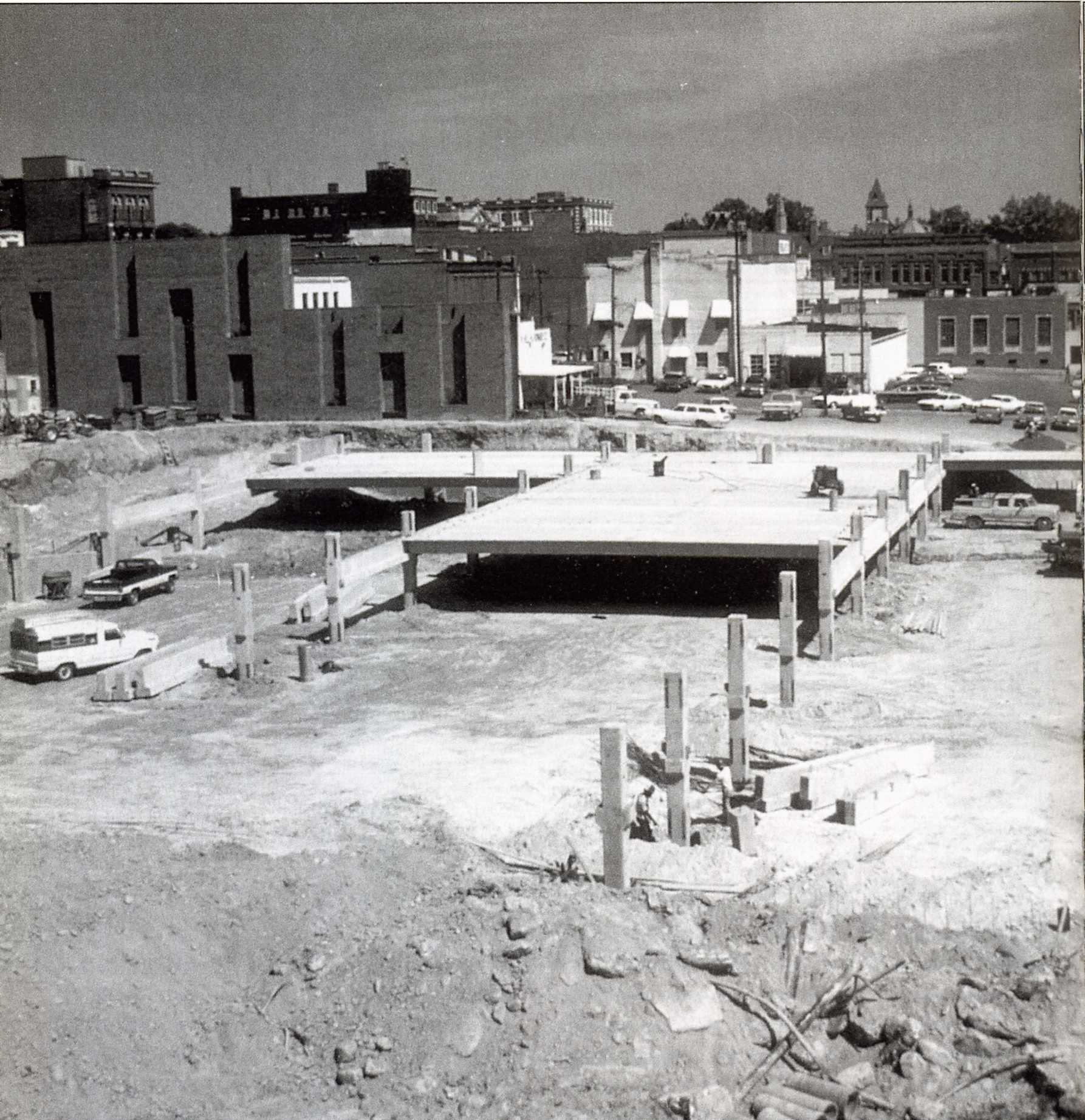 The African American business area along with many small businesses along East Black Street were demolished to make changes in the1970s.