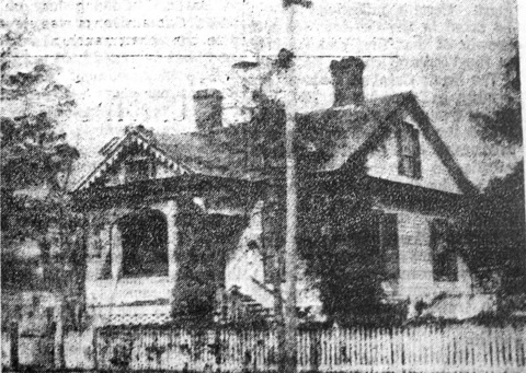 Prior to the construction of the Baptist Church on East Main Street, the Roddey Reid home sat on the site, ca. 1854.