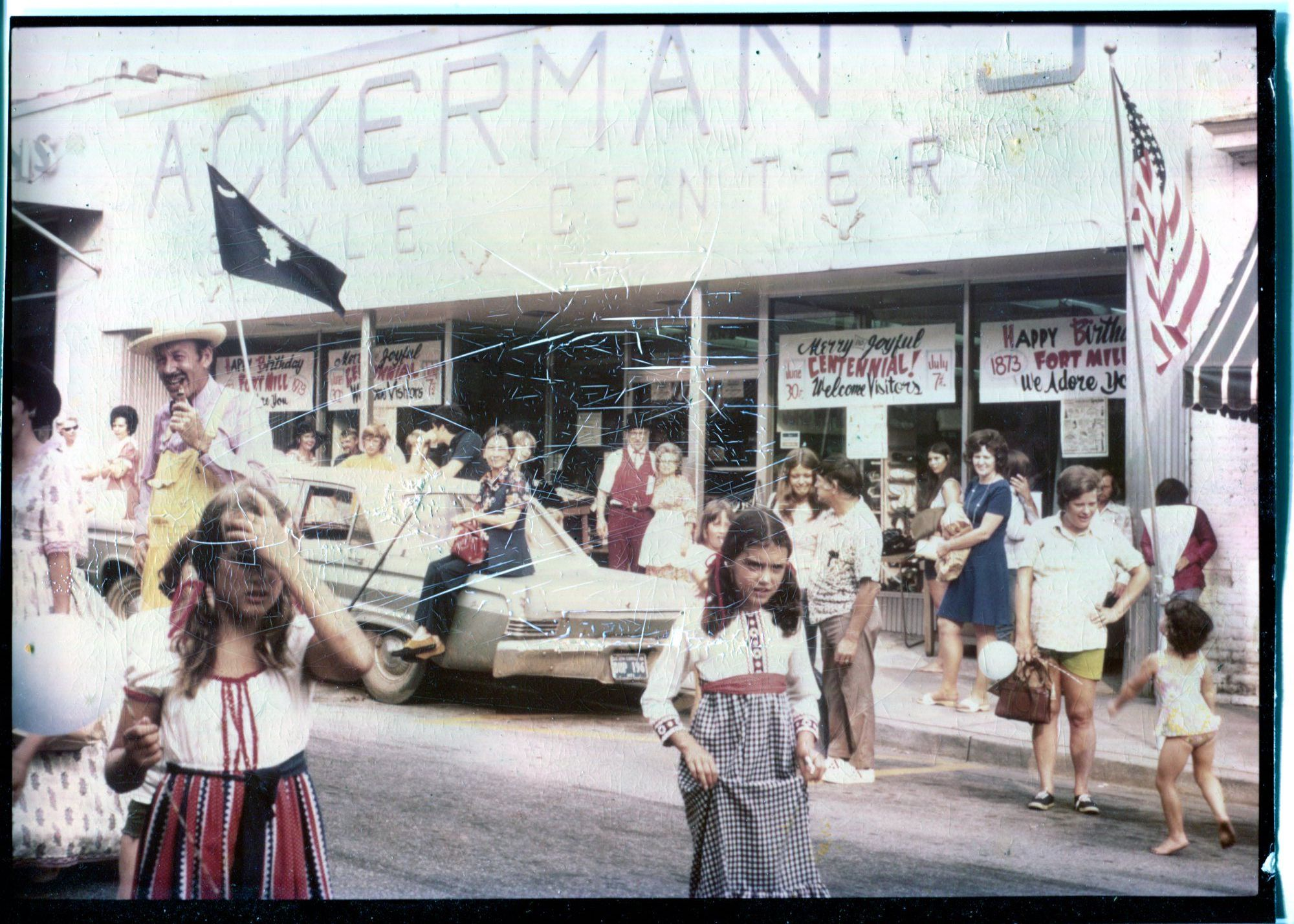 Front of Ackerman's during Fort Mill Centennial