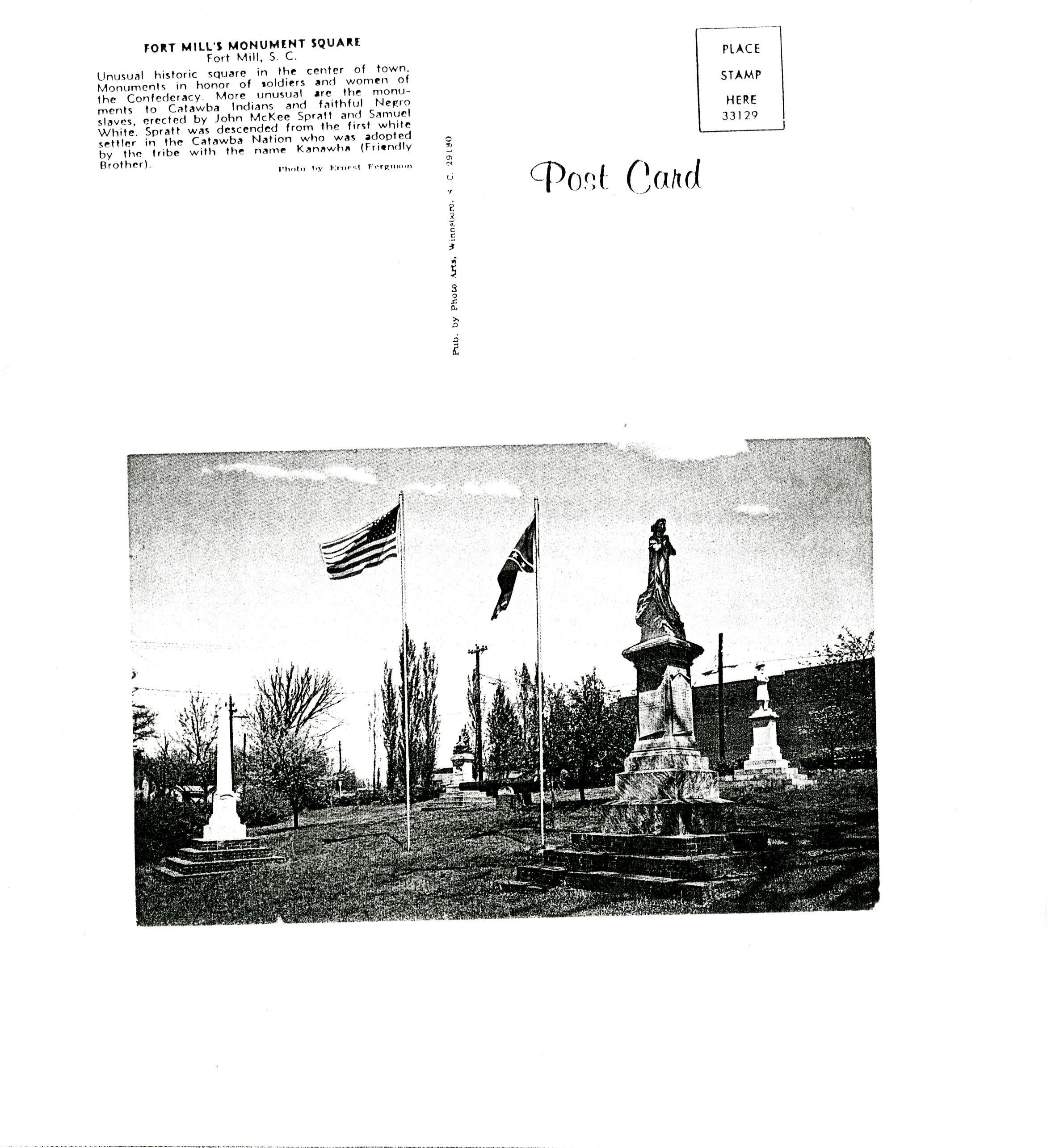 Confederate Park postcard