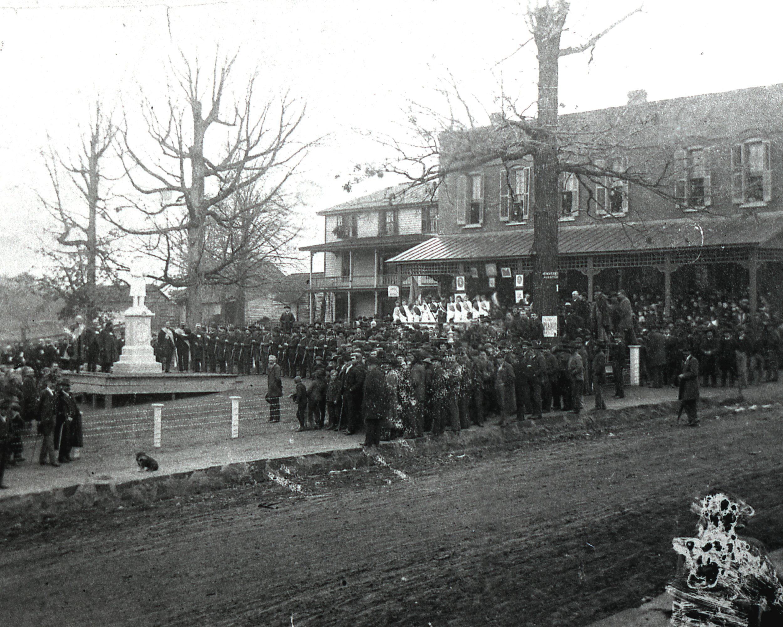 Confederate Park monument dedication -Dec 22, 1891