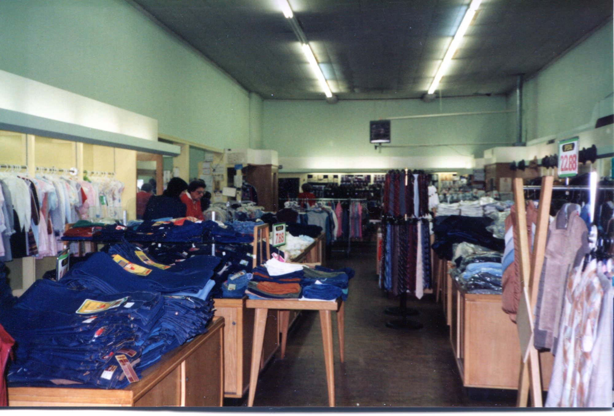 Inside Stroup's Department Store